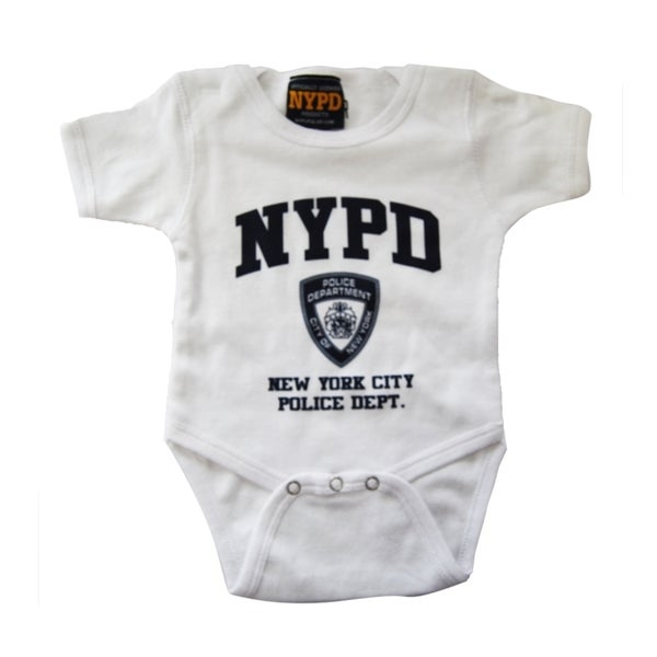 NYPD White/ Navy Infant Bodysuit