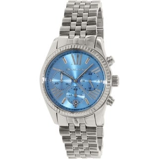 Michael Kors Men's Lexington MK5887 Blue Stainless-Steel Quartz Watch