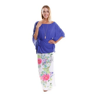 Hadari Women's Bell Sleeve Top and Maxi Skirt (Set Of Two)