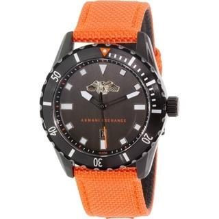 Armani Exchange Men's AX1705 Orange Leather Quartz Watch