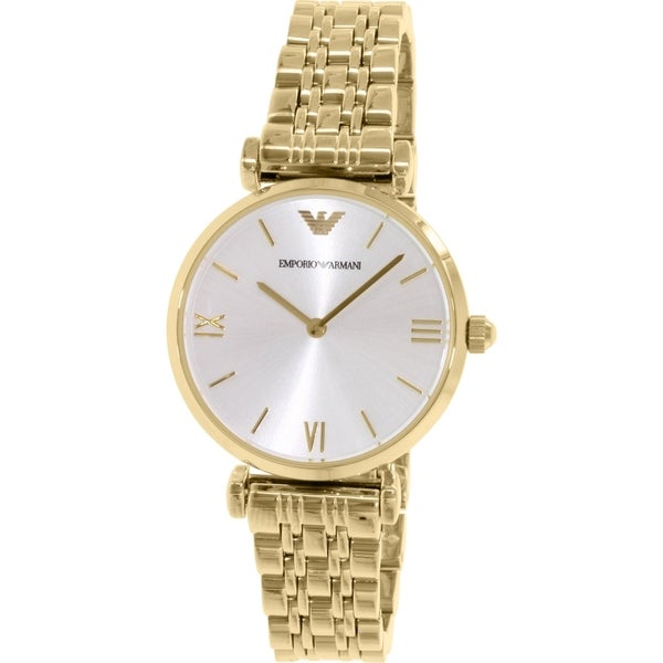 Emporio Armani Women's Gianni AR1877 Goldtone Stainless Steel Quartz Watch