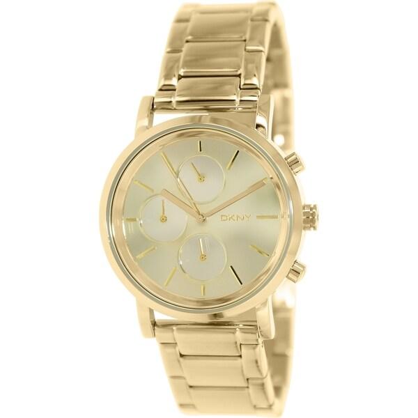 DKNY Women's Lexington NY8861 Goldtone Stainless Steel Analog Quartz Watch