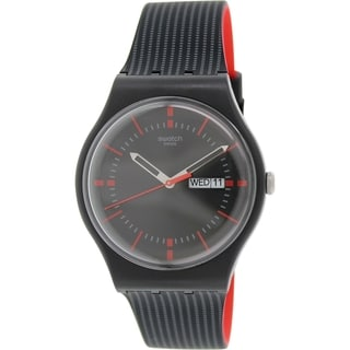 Swatch Men's Originals SUOB714 Black Silicone Swiss Quartz Watch