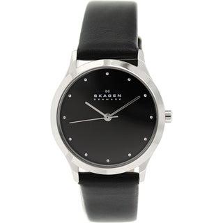Skagen Women's Jorn SKW2283 Black Leather Quartz Watch