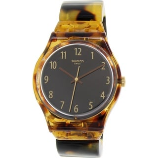 Swatch Women's Originals GC113B Brown Plastic Swiss Quartz Watch