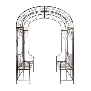 Metal Arch Decorative Bench