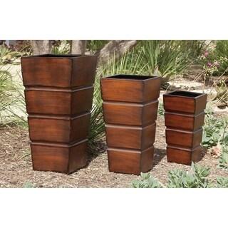 Set of 3 Metal Decorative Planters