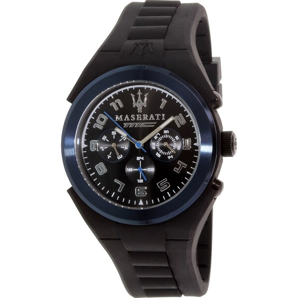 Maserati Men's Pneumatic R8851115007 Black Rubber Quartz Watch