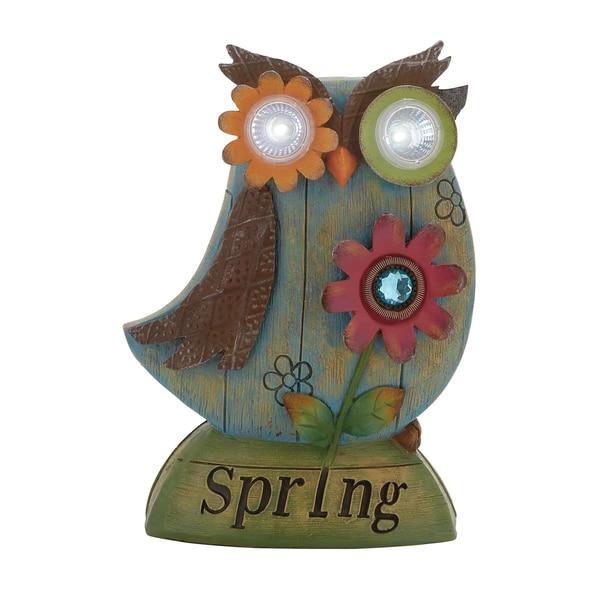 Polystone Decorative Solar Owl
