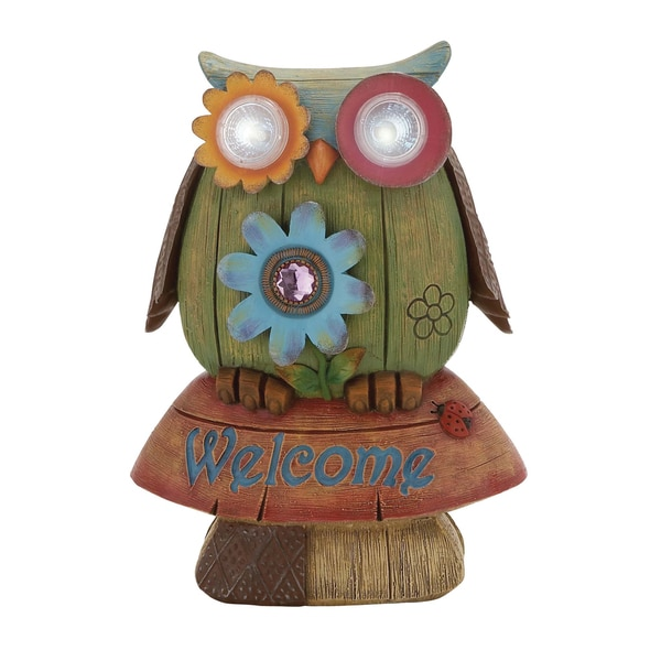 Polystone Solar Garden Owl