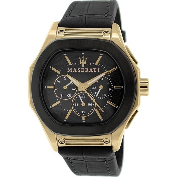 Maserati Men's Fuoriclasse R8851116002 Black Leather Analog Quartz Watch