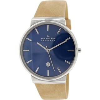 Skagen Men's Ancher SKW6103 Brown Leather Quartz Watch