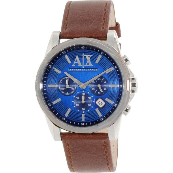 Armani Exchange Men's AX2501 Blue Leather Quartz Watch