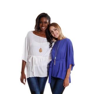 Hadari Women's Bell Sleeve Top (2-Piece Set )