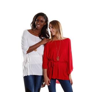 Hadari Women's Contemporary Bell Sleeve Top (2-Piece) Bundle