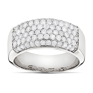 Luxurman 14k Gold 1 3/5ct TDW Diamond Wedding Band (H-I, SI1-SI2)