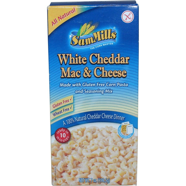 Sam Mills Gluten Free White Cheddar Mac & Cheese, 7 Oz [4 Pack]