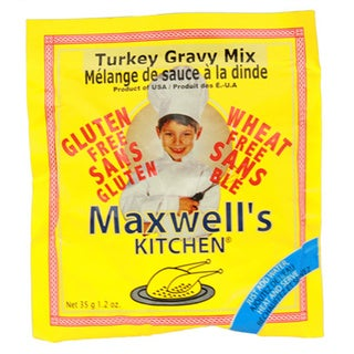 Maxwells Kitchen Gluten Free Turkey Gravy Mix, 1.2 oz. [4 Pack]