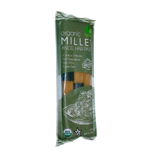 Bgreen Organic Millet Angel Hair Pasta, 8.8 Oz. [2 Pack]