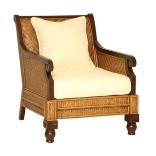Trinidad Hardwood and Rattan Arm Chair