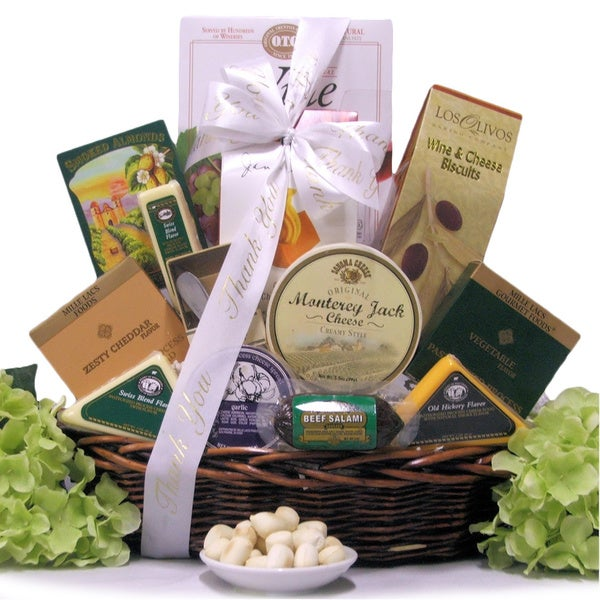 Note Of Thanks: Gourmet Cheese Gift Basket