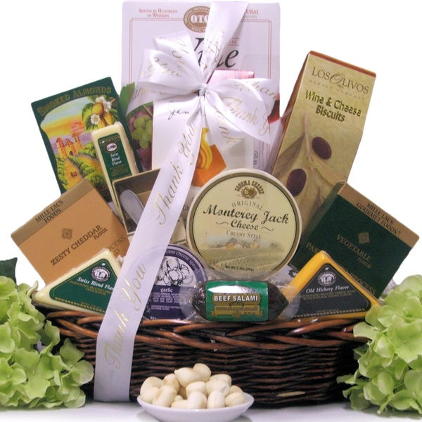 Note Of Thanks: Administrative Professionals Day Cheese Gift Basket