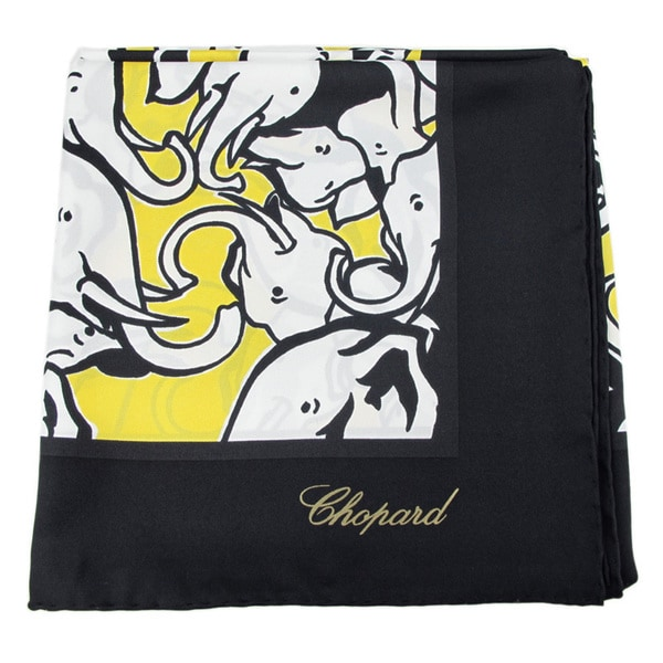 Chopard 100 Black Silk Baby Elephant Scarf