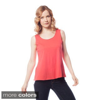 AtoZ Women's Cropped Flared Tank Top