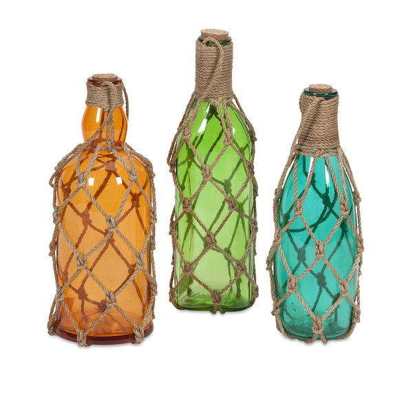 Williams Glass Bottles with Jute Hangers (Set of 3)