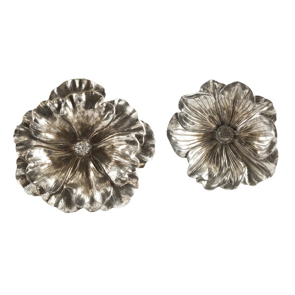 Natalia Stick Silver Flowers (Set of 2)