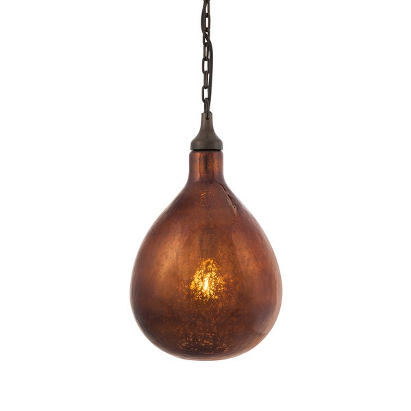 Salina Bronze Mercury Glass Pendant Light