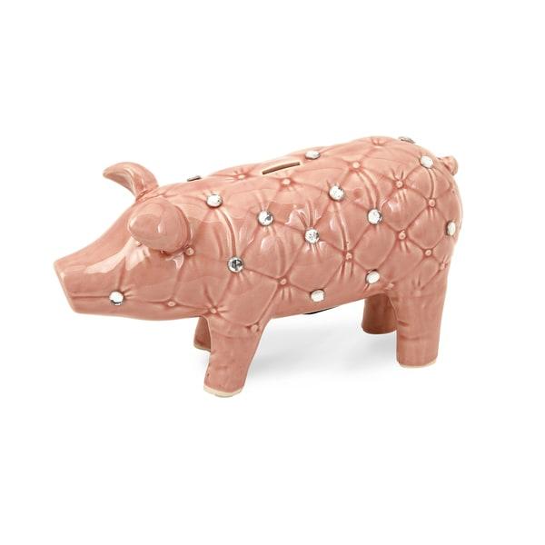 Abilene Jeweled Piggy Bank