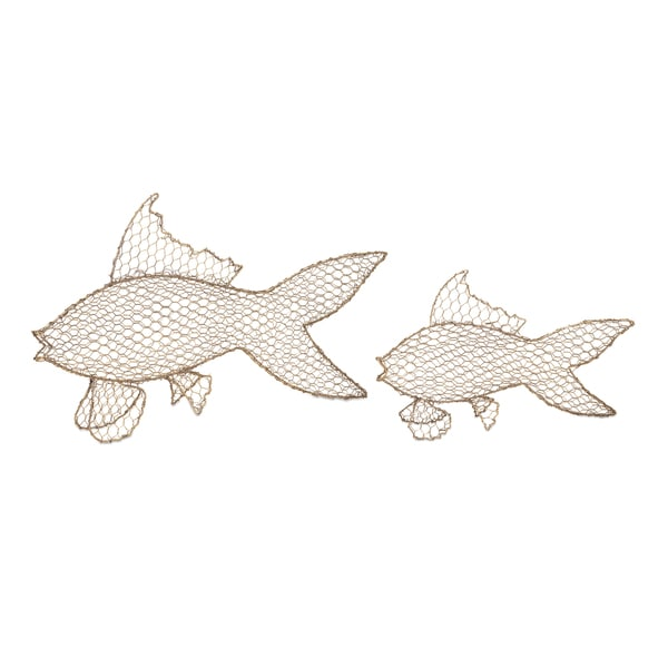 Astaire Gold Metal Fish (Set of 2)