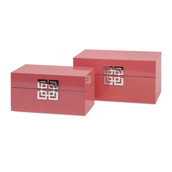 Danes Pink Boxes (Set of 2)