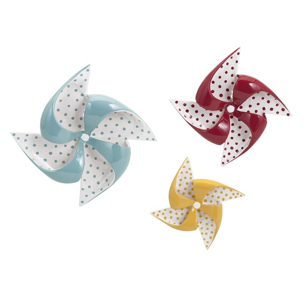 Pinwheel Ceramic Wall Decor (Set of 3)