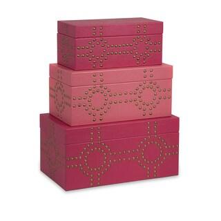 Julia Studded Boxes (Set of 3)