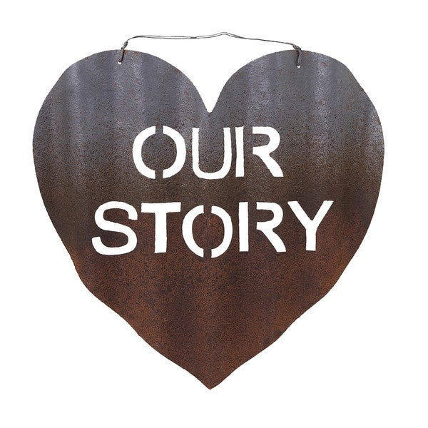 Our Story of Love Metal Wall Decor