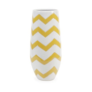Essentials Mellow Yellow Chevron Vase