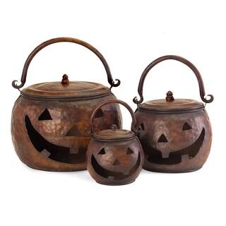 Lidded Pumpkins (Set of 3)