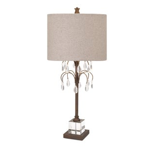 Windsor Crystal And Metal Table Lamp