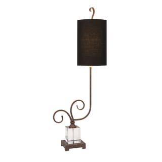 Electra Crystal And Metal Buffet Lamp