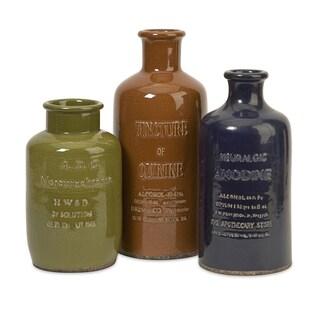 Vintage Elixir Bottles (Set of 3)