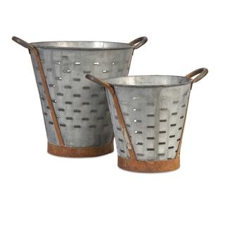 Vintage Pierced Bucket (Set of 2)