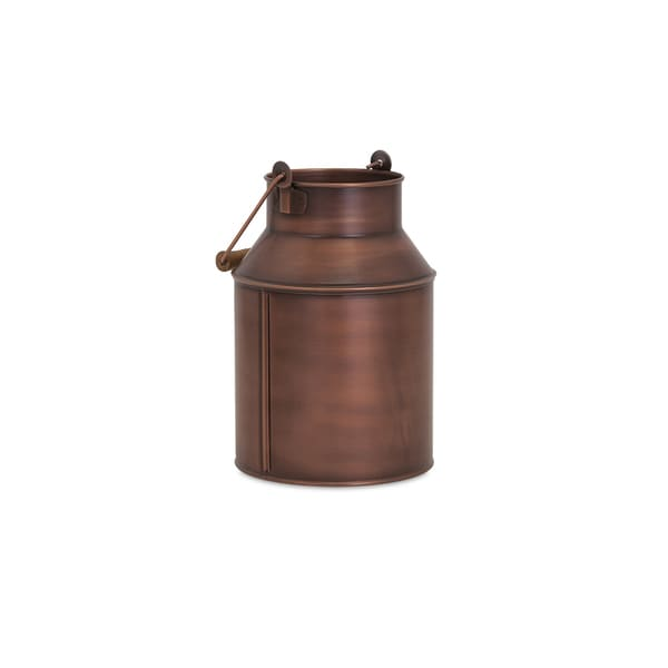 Pindler Copper Plated Milk Can
