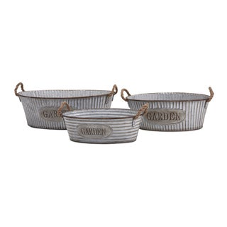 Lilia Metal Garden Tubs (Set of 3)