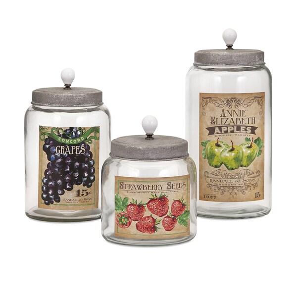 Bailey Lidded Glass Jars (Set of 3)
