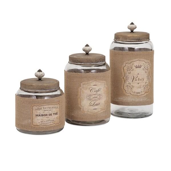 Carley Lidded Glass Jars (Set of 3) 15436277