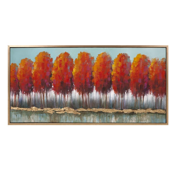 Autumn Row Oil On Canvas With Frame