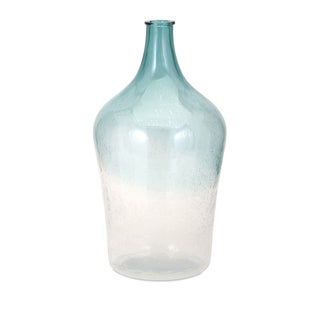 Carys Blue and White Bubble Glass Jug