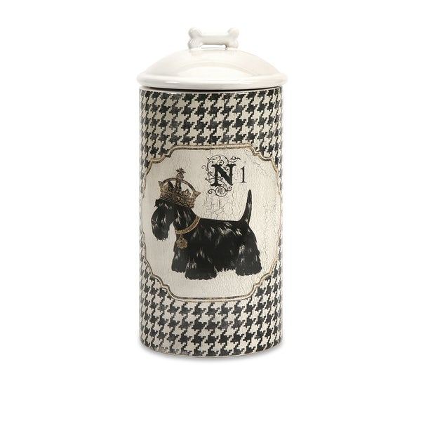 Dog Ceramic Canister Large